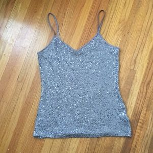 Express sequined cami. Size M.